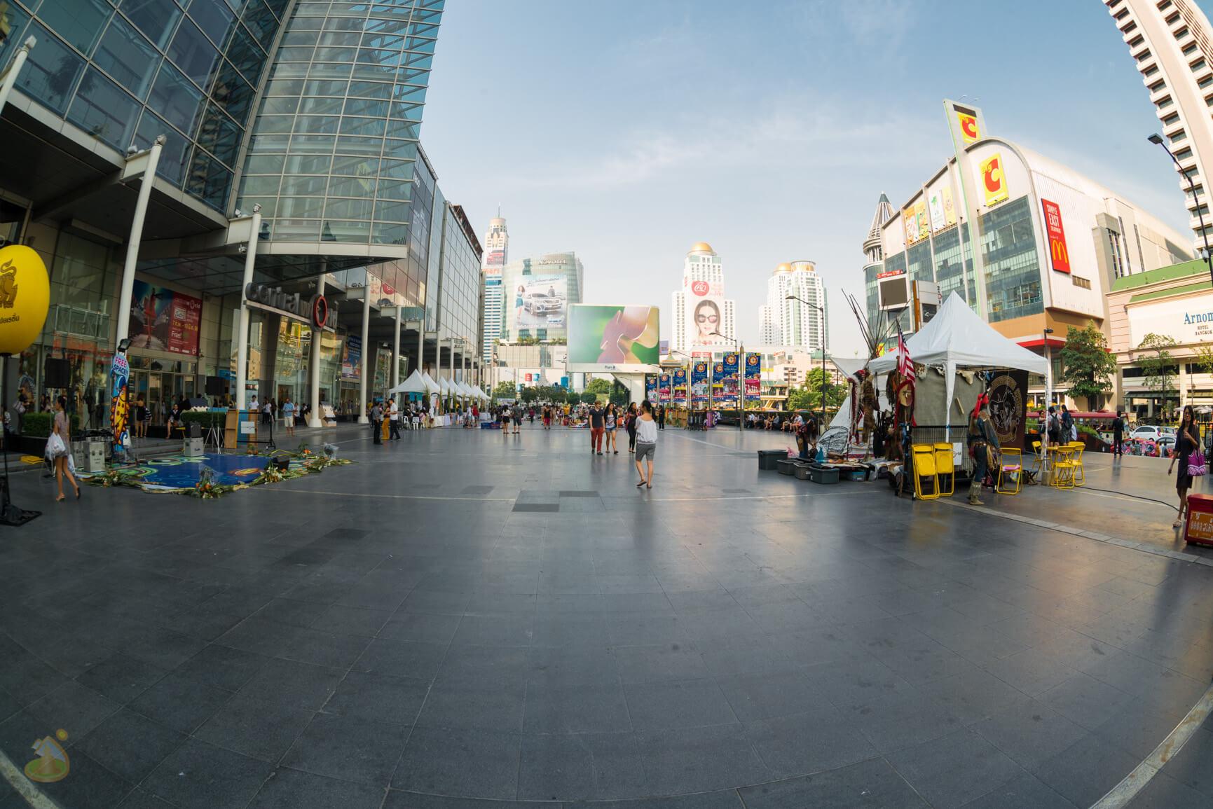 Центр Бангкока, площадь