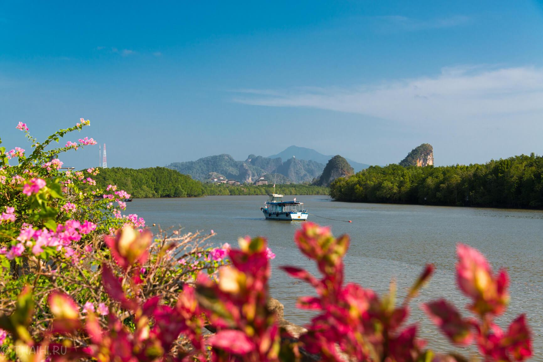Вид на реку в Краби Таун