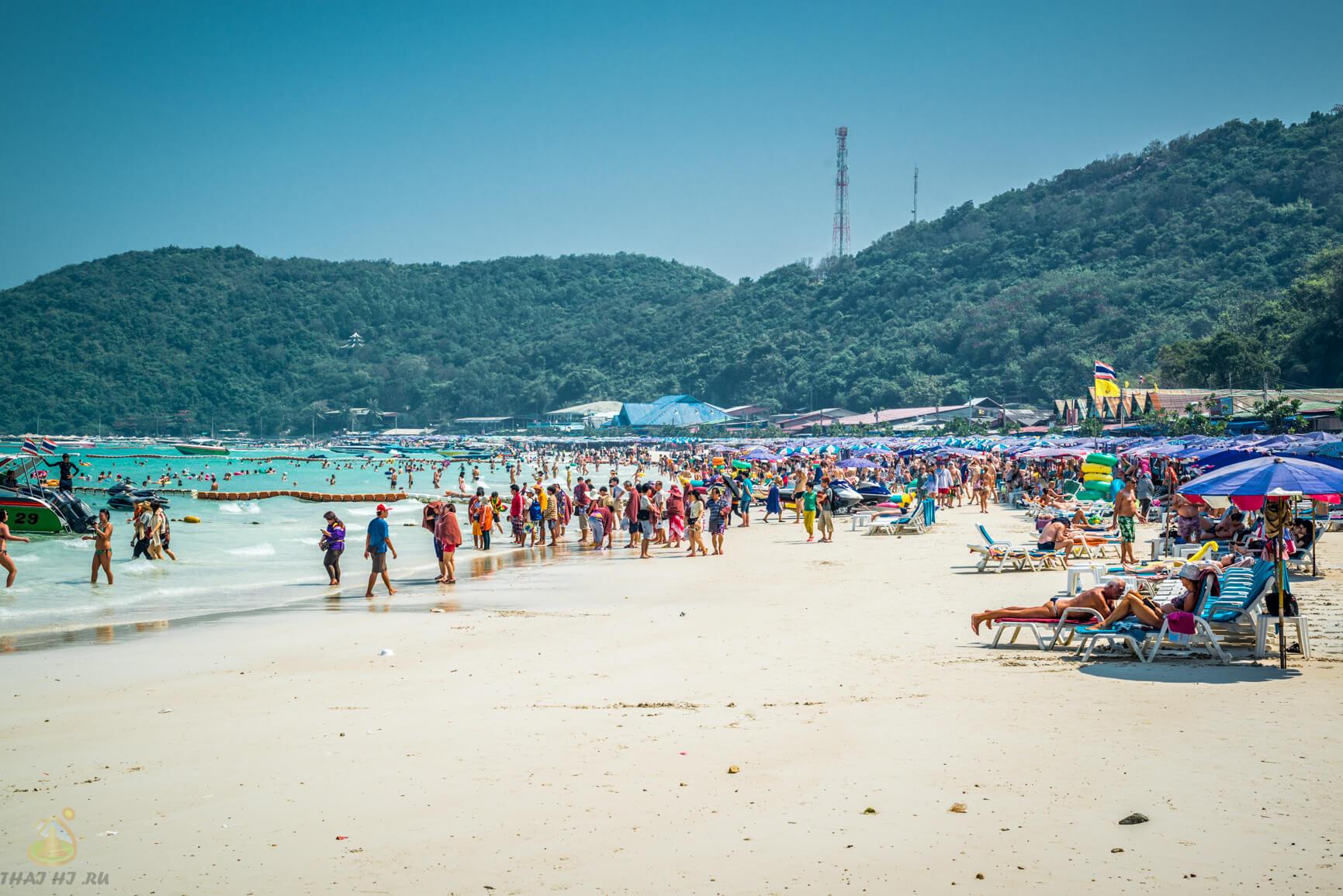 Пляж Tawaen Beach на Ко Лан