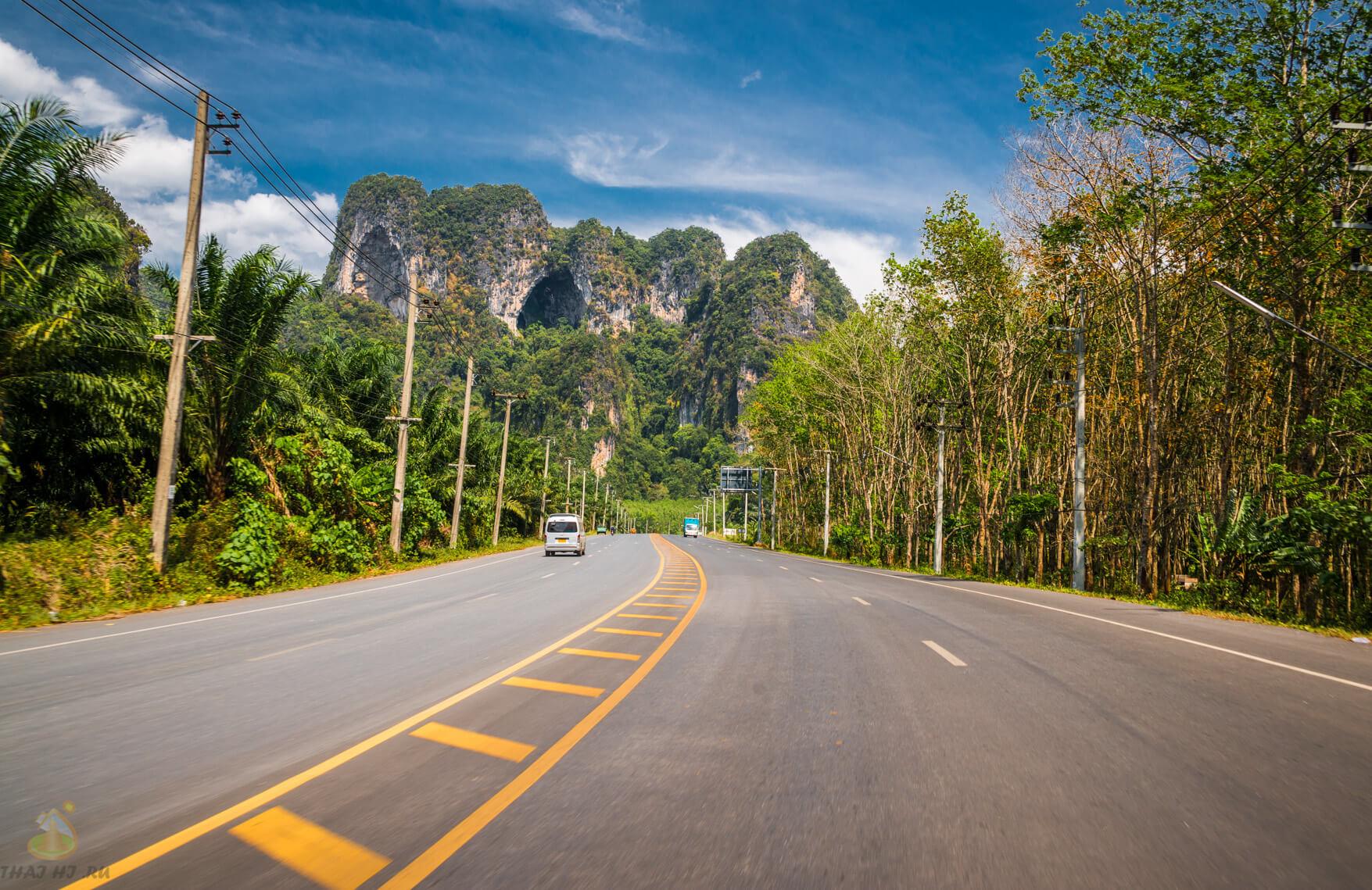 Дорога из Краби таун в Ао Нанг