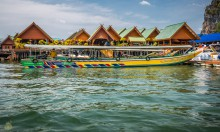 Плавучая Деревня в Тайланде, залив Пхангнга