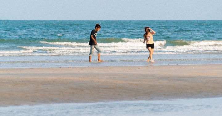Молодеж на пляже