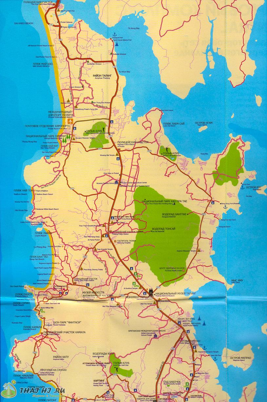 Карта - все пляжи Пхукета