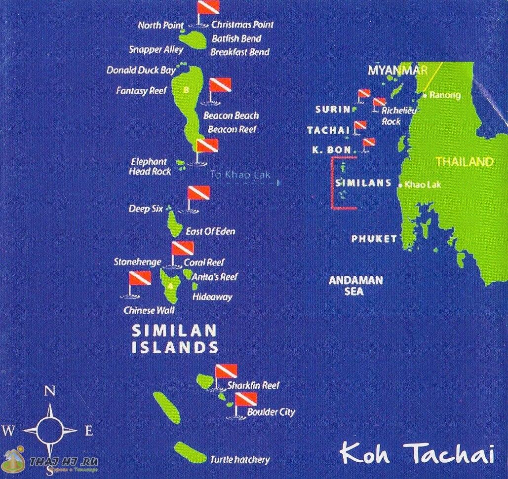 Карта островов Пхукета