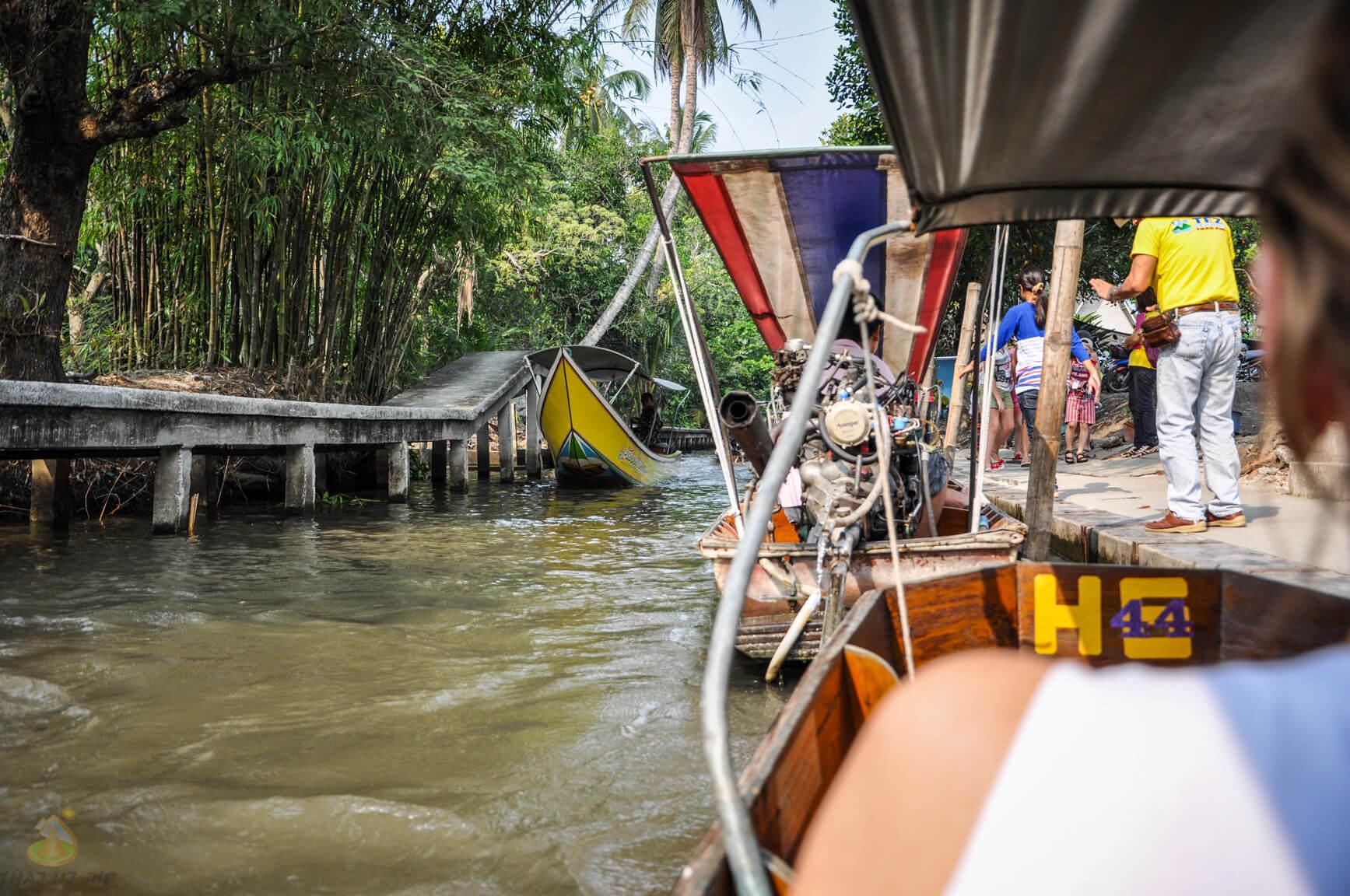 Рынок на воде при экскурсии на Квай