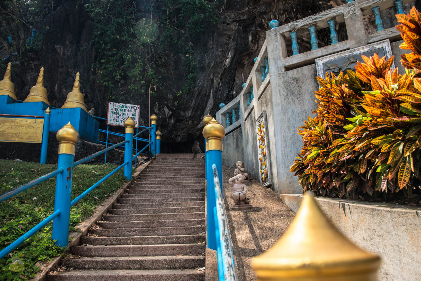 Лестница на гору Храма Тигра - фото