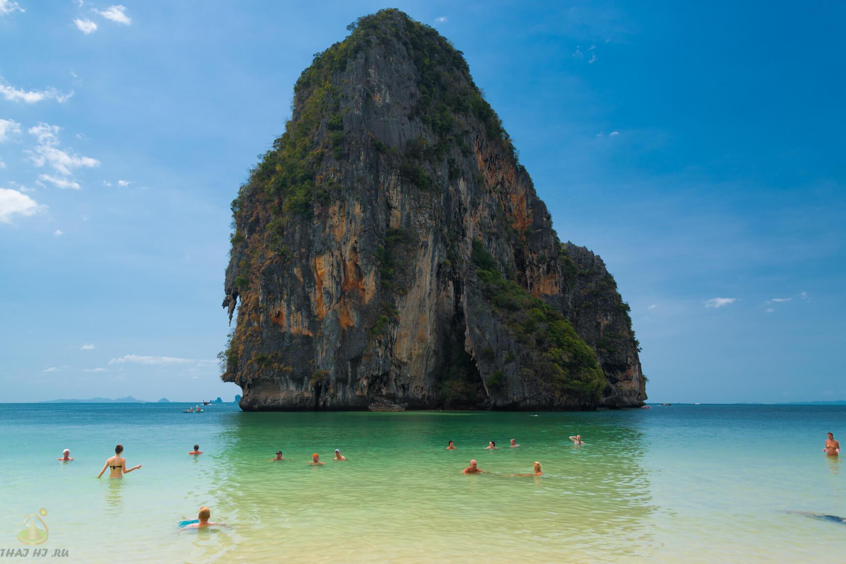 Пляж Phra Nang Cave Beach в Krabi