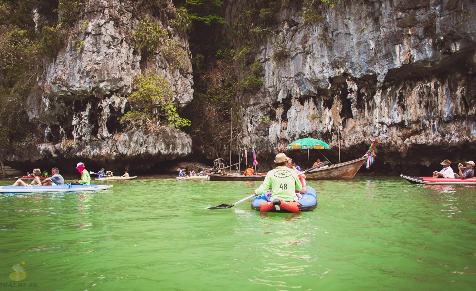 Катание на каноэ между скал, Пханг Нга