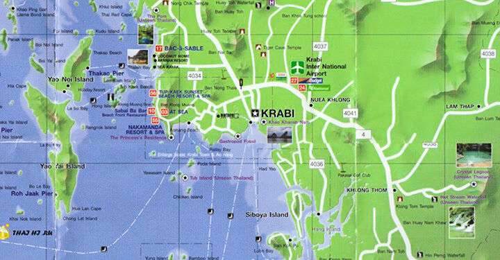 Карты Krabi
