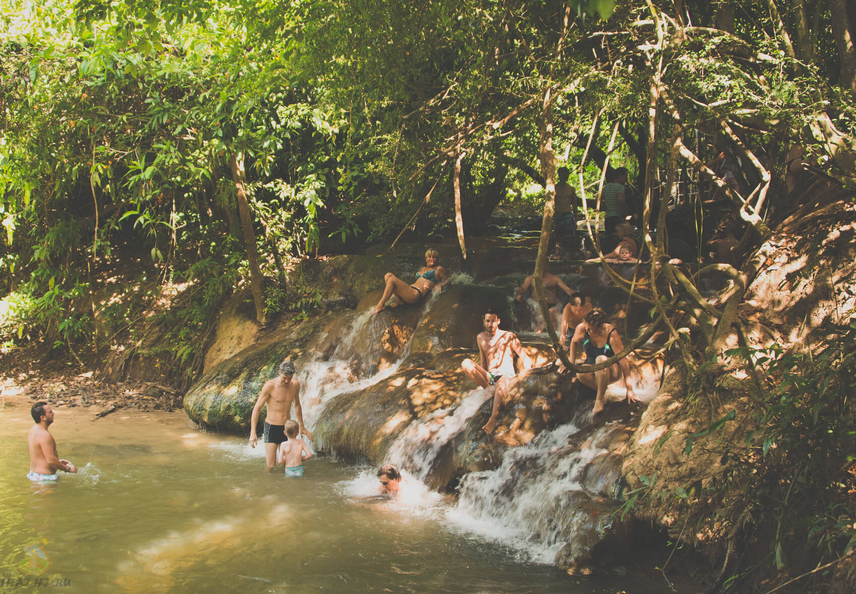 Термальный водопад в Краби