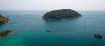 Вид с обзорки острова Пхукет Тайланд